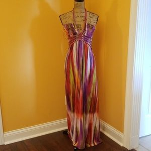 Cynthia Rowley maxi sun dress rainbow Z312:6:619